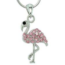 Flamingo Made With Swarovski Crystal Elegant Bird Pink Pendant Necklace Jewelry