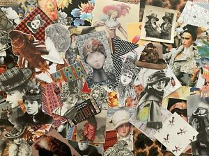 VINTAGE HATS:  Paper Ephemera Scrap Pack--110+ Images of Hats for DIY, Collage