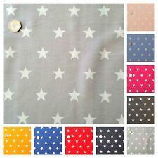 Star Fabric 20mm White Star 100% Cotton, Fat Quarter, Half Metre or Metre.