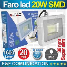 FARO FARETTO LED SMD 20W DA ESTERNO IP65 LUCE FREDDA 6000°K V-TAC 1600 LUMEN