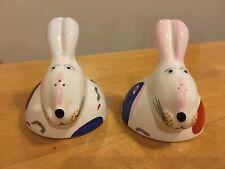 Villeroy & Boch Rabbits Animal Park Salt and Pepper Shakers