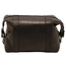 1de9409cde Ashwood - Black Wash Bag in Buffalo Smooth Leather