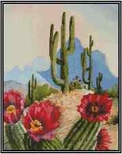Cactus Southwest Scene Counted Cross Stitch Chart  #21-119