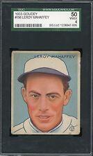 1933 Goudey #196    Leroy Mahaffey    Athletics      SGC 50 !!!!