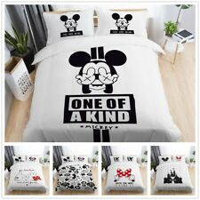 3D Disney Mickey Mouse Minnie Kid Bedding  00006000 Set Duvet Cover Pillowcase Quilt Cover