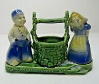 Vintage Shawnee USA Dutch Couple BOY GIRL Wishing Well Planter #710