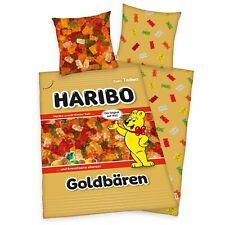 Haribo or Bears Linge de Lit Set 135 X 200 CM 80 X 80 CM 100% Coton