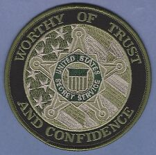 UNITED STATES SECRET SERVICE TRUST & CONFIDENCE POLICE PATCH GREEN