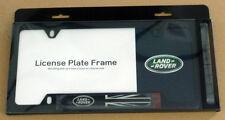 Land Rover Brand Genuine OEM Stainless Black License Plate Frame