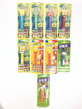 Lot 9 Pez Les The Simpsons, Bob L'éponge Spongebob Squarepants / Neuf