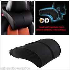 Car Ergonomic Memory Cotton Headrest Black Pu Leather Neck Rest Cushion Pillow