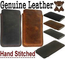 HANDCRAFTED & DURABLE GENUINE LEATHER POCKET CASE COVER SLEEVE POUCH FOR SAMSUNG
