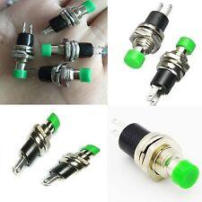 25 x pulsante miniatura da pannello VERDE 7 mm normalmente aperto 250 Vac