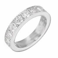 2.2ct Round Cut Diamond Wedding Ring Band Vintage Milgrain 14k White Gold Finish