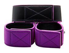 Shots Ouch collar y Muñequeras reversibles color Púrpura