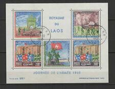 ROYAUME DU LAOS journée de l'armée 1968  feuillet 5 timbres /B5A6