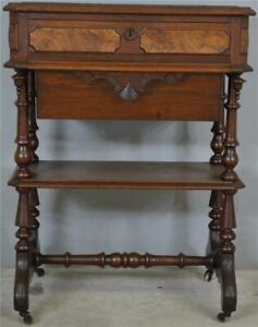 17791 Walnut Victorian Sewing Stand