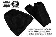 Black Suede Para Bmw E90 E91 E92 E93 Gear Freno De Mano Polaina conjunto Negro Stitch