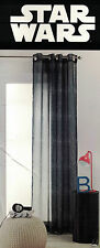 "DISNEY STAR WARS ""LOGO STARBURST"" SHEER EYELET CURTAIN 140CM X 223CM NEW"