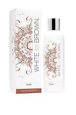 NEW White To Brown Whitetobrown Dark Fake Tan No Bake Self Tanning Lotion 250ml