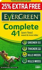 Evergreen Complete 4 in 1 Lawn Care Feeder Weed Moss Killer 100m2 Bag