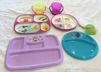 Lot of 7 Children's Plates & Cups Disney, Frozen, Nemo, Zak Designs, Munchkin