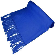 Royal Blue Solid Colour Design Pashmina Shawl Scarf Wrap Stole CJ Apparel *NEW*
