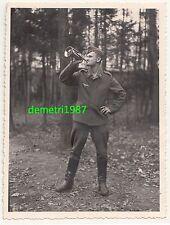 Foto Luftwaffen Soldat mit Waldhorn 2 Wk IIWW schöne Aufnahme ! (F1952