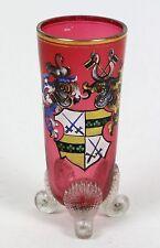 Becherglas mit ADELSWAPPEN geviert, rot, Kurschwerter, Historismus