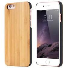 Natural Wood Bamboo & PC Phone Case Fitted Cover for iPhone 11 XS XR 8 7 Plus 6s