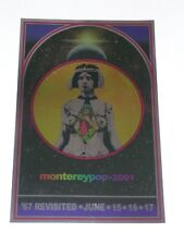 AOR 3.5 MONTEREY POP REVISITED Psychedelic METALLIC FOIL Poster by TOM WILKES