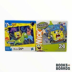 2 SpongeBob SquarePants 24 Piece Puzzles | Milton Bradley | 2005/2009 | Complete