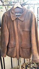 Vintage Authentic Winlit 1969 Brand Brown Distressed Leather Suede Jacket L
