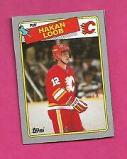 RARE 1988-89 TOPPS # O FLAMES HAKAN LOOB BOX BOTTOM CARD (INV# C9798)