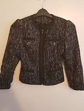 GEORGE - Ladies Womens Girls Black & White Long Sleeved Jacket Size 8 Petite