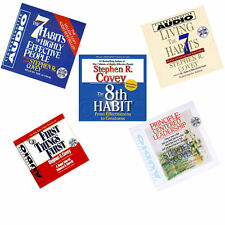 NEW 5 Audiobooks ( 5 CD)  Stephen Covey 7 & 8th habit First things First