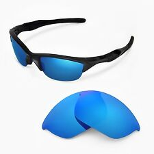 New Walleva Polarized Ice Blue Replacement Lenses For Oakley Half Jacket 2.0