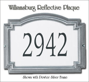 Whitehall Williamsburg Reflectice Nite Bright Plaque 3 Frame Colors Wall OR Lawn