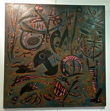 Richard Texier huile/toile signé1986 surrealisme Paris Moscou New York Tokyo