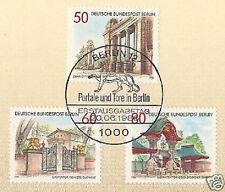 Berlin 1986: Portale und Tore Nr 761-763 mit sauberem Ersttagsstempel! 1A! 1609