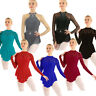 Women Ballet Dance Leotard Dress Lace Long Sleeve Gymnastics Performance Costume