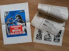 TOHO - Godzilla: DESTROY ALL MONSTER -  rare German press book !  MOTHRA Rodan