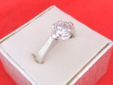 925 Sterling Silver Round Cut Cubic Zirconia Solitaire Ring