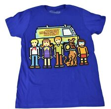 Scooby Doo Youth Boys The Mystery Machine And The Gang 8-Bit Shirt New S, M, L