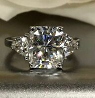 4.32Ct Certified Lab-Created Radiant Diamond Engagement 14K White Gold Ring