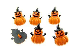 25mm Halloween Button with Pumpkin Witch 609540