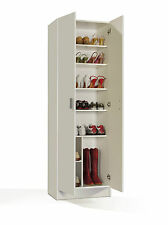 NEW White Storage Cupboard Unit Cabinet Shoe Boot Towels Linen Blanket Chest
