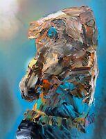 "ORIGINAL Abstract Iggy Pop Stooges Punk Rock Music Wall Art Painting 11x14"""