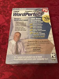 Video Professor Learn Word Perfect Complete 3 CD Set( Sealed) PC CD-ROM Soft
