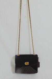 COACH Velvet Quilting Plum Crossbody Handbags SP409 $350